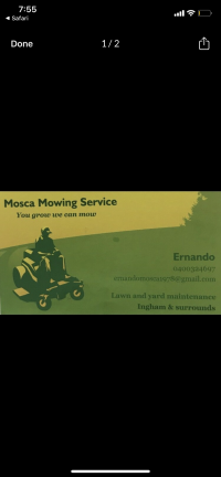 Mosca mowing service