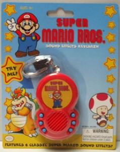 super mario bros sound effects keychain totalgamestoys